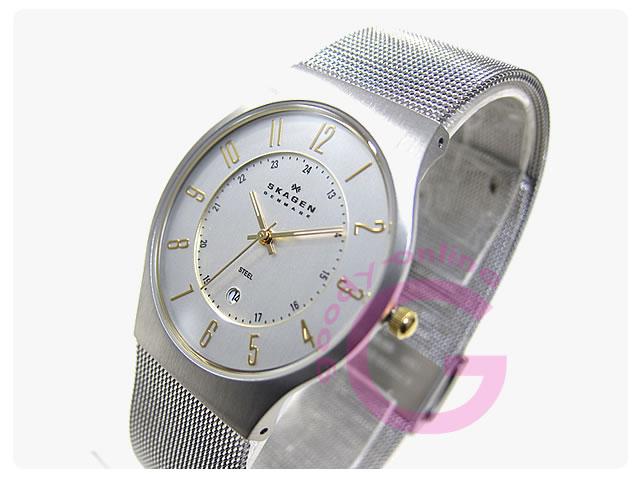 SKAGEN(スカーゲン) 233XLSGS ウルトラスリム ステンレスメッシュ メンズウォッチ 腕時計