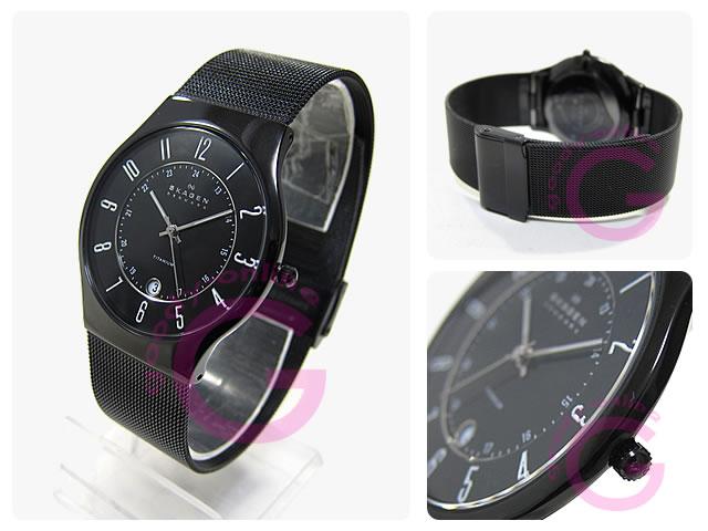 SKAGEN(スカーゲン) 233XLTMB ウルトラスリム チタン メッシュ メンズウォッチ 腕時計