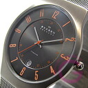 SKAGEN ( Skagen ) 233 XLTTMO ultra-slim titanium mesh Orange Germany another note model watch