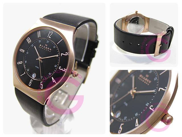 SKAGEN(スカーゲン) 233XXLRLB ウルトラスリム レザーベルト メンズウォッチ 腕時計