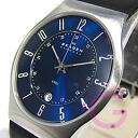 SKAGEN ( Skagen ) 233 XXLSLN ultra slim leather belt blue mens watch