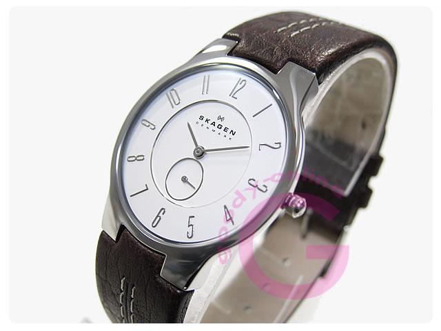 SKAGEN(スカーゲン) 433LSL1 ウルトラスリム レザーベルト メンズウォッチ 腕時計