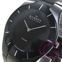 SKAGEN ( Skagen ) 585 XLTMXB BLACK LABEL and black label ultra slim titanium black mens watch