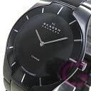 SKAGEN ( Skagen ) 585 XLTMXB BLACK LABEL and black label ultra slim titanium black mens watch