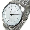 SKAGEN (scar gene) 780XLSS stainless steel mesh belt silver men watch watch
