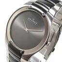 Ultra slim stainless steel belt gunmetal watch SKAGEN ( Skagen ) 861 XLSMXM