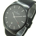 Titanium titanium mesh belt black IP mens watch, SKAGEN ( Skagen ) 956 XLTBB