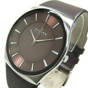 SKAGEN (scar gene) SKW6016 KLASSIK/ classical music leather belt brown men watch watch