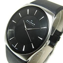 SKAGEN (scar gene) SKW6017 KLASSIK classical music leather belt black men watch watch