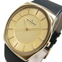 SKAGEN (scar gene) SKW6018 KLASSIK/ classical music leather belt gold case men watch watch