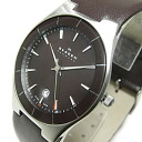 SKAGEN (scar gene) SKW6038 AKTIV Acty blazer belt brown men watch watch
