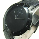 1,000 SKAGEN (scar gene) SKW6045 IKON Hiroshi Konno Toru design world-limited-limited model leather belt men watch watch