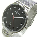 SKAGEN (scar gene) SKW6051 KLASSIK/ classical music stainless steel mesh belt black dial men watch watch