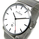 SKAGEN (scar gene) SKW6052 KLASSIK classical music stainless steel mesh belt silver men watch watch