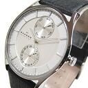 SKAGEN (scar gene) SKW6065 KLASSIK/ classical music multi-function leather belt silver men watch watch