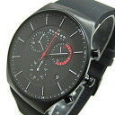 SKAGEN (Skagen) SKW6075 AKTIV / Aktiv Titanium titanium chronograph Silicon rubber belt black x red mens watch watches