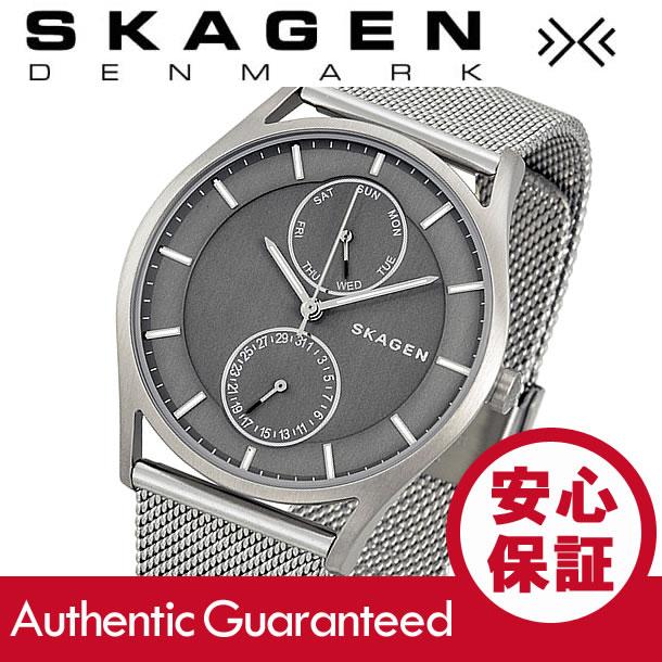 SKAGEN (スカーゲン) SKW6172 Holst/ホルスト スリム マルチファンクションカレンダー ステンレスメッシュベルト グレーダイアル メンズウォッチ 腕時計