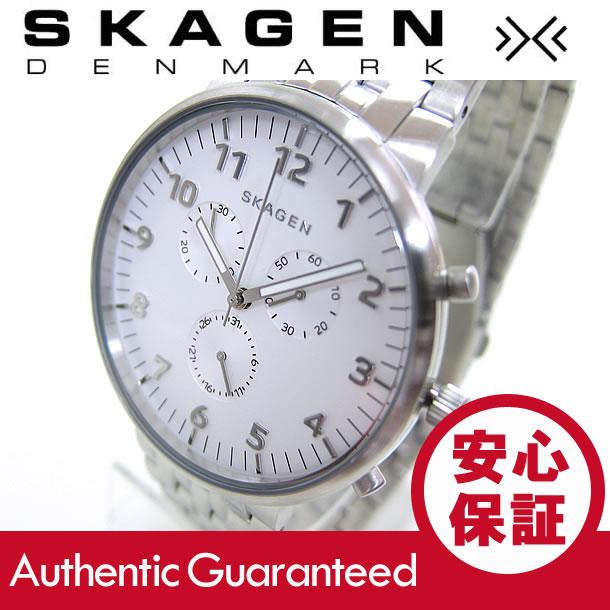 SKAGEN (スカーゲン) SKW6231 ANCHER/アンカー クロノグラフ ステンレスベルト ホワイトダイアル メンズウォッチ 腕時計 腕時計