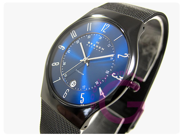 SKAGEN(スカーゲン) T233XLTMN ウルトラスリム チタン メンズウォッチ 腕時計