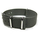 Substitute belt NATO strap for watches of the T2N Strap (T2N strap) AN18NT-4GY gray NATO nylon belt high quality nylon strap 4RING military taste