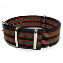 Substitute belt NATO strap for watches of the T2N Strap (T2N strap) AN20NT-4OL2 khaki stripe NATO nylon belt high quality nylon strap 4RING military taste
