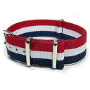 Substitute belt NATO strap for watches of the T2N Strap (T2N strap) AN20NT-4RWB tricolor color NATO nylon belt high quality nylon strap 4RING military taste