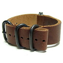 T2N Strap (T2N strap) CH20L44-5PBR 5RING PVD processing real leather leather belt strap band brown substitute belt military watch use