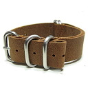 T2N Strap (strap T2N) CH20L50-5LBR 5RING leather leather belt strap band Brown replacement belt for military watches