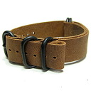T2N Strap (strap T2N) CH20L50-5PLBR 5RING PVD processing leather leather belt strap band Brown replacement belt for military watches