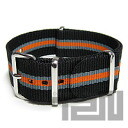 T2N Strap (T2N strap) CH20NT-4GY2OR 4RING NATO nylon strap band Grace tripe / orange substitute belt military watch business