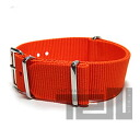 T2N Strap (T2N strap) CH20NT-4OR 4RING NATO nylon strap band orange substitute belt military watch business
