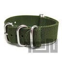 T2N Strap (T2N strap) CH20Z-5DOL 5RING premium nylon regulation size strap band dark olive / khaki substitute belt military watch business