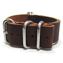 T2N Strap (T2N strap) CH22L44-5BR 5RING real leather leather belt strap band brown substitute belt military watch business
