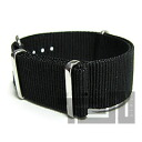 T2N Strap (strap T2N) CH22NT-4BK 4RING NATO nylon strap band Black replacement belt for military watches