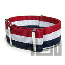 T2N Strap (strap T2N) CH22NT-4RWB 4RING NATO nylon strap band Tricolore replacement belt for military watches