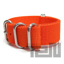 T2N Strap (strap T2N) CHZ-5OR 5RING premium nylon regular size strap band Orange refill belt for military watches