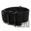 T2N Strap (strap T2N) CH22Z-5PBK 5RING PVD nylon premium regular size strap band Black replacement belt for military watches