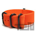 T2N Strap (strap T2N) CH22Z-5POR 5RING PVD nylon premium regular size strap band Orange refill belt for military watches
