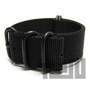 T2N Strap (strap T2N) CH24Z-5PBK 5RING PVD nylon premium regular size strap band Black replacement belt for military watches
