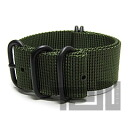 T2N Strap (T2N strap) CH24Z-5PDOL 5RING PVD premium nylon regulation size strap band dark olive / khaki substitute belt military watch business