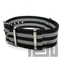 T2N Strap (T2N strap) PT20NT-4GY2 Bali stick nylon NATO nylon strap gray bond stripe substitute belt watch business