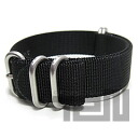 T2N Strap (strap T2N) PT20Z-5BK 5RING ballistic nylon strap band Black replacement belt for military watches