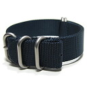 T2N Strap (T2N strap) PT20Z-5NAVY 5RING Bali stick nylon strap band navy substitute belt military watch business