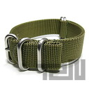 T2N Strap (strap T2N) PT20Z-5OL 5RING ballistic nylon strap band olive green replacement belt for military watches