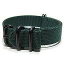 T2N Strap (T2N strap) PT20Z-5PDGR 5RING PVD processing Bali stick nylon strap band dark green substitute belt military watch use