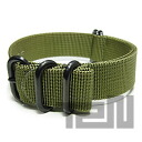 T2N Strap (strap T2N) PT20Z-5POL 5RING PVD processing ballistic nylon strap band olive green replacement belt for military watches