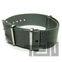 T2N Strap (T2N strap) PT22NT-4GY Bali stick nylon NATO nylon strap gray substitute belt watch business