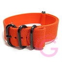 T2N Strap (strap T2N) PT22Z-5POR 5RING PVD processing ballistic nylon strap band Orange refill belt for military watches