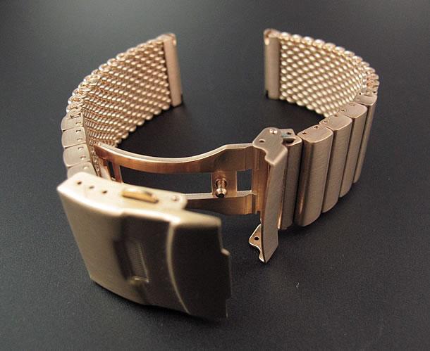 T2N Strap (T2Nストラップ) SHARK MESH T2N-MB1010-12WSLRG 1.2mm ワイヤー使用 ステンレスメッシュベルト