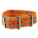 TIMEX ( Timex ) T7B919 Weekender / Weekender Central Park for the full-size 20 mm Nylon replacement belt Orange x gray watch